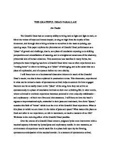 THE GRATEFUL DEAD PARALLAX
