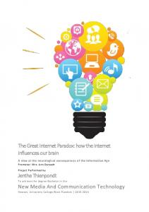 The Great Internet Paradox: how the internet influences our brain