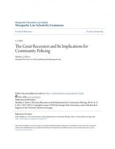 The Great Recession and Its Implications for Community Policing