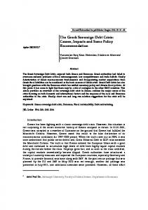 The Greek Sovereign Debt Crisis: Causes, Impacts and Some Policy Recommendation
