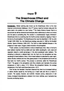 The Greenhouse Effect and The Climate Change