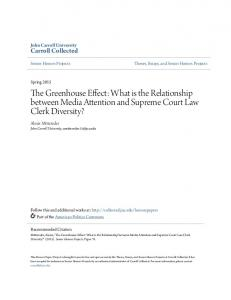 The Greenhouse Effect: What is the Relationship between Media Attention and Supreme Court Law Clerk Diversity?