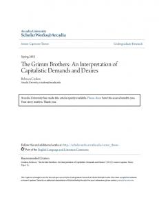 The Grimm Brothers: An Interpretation of Capitalistic Demands and Desires