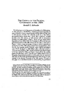 THE GROWTH OF THE FEDERAL GOVERNMENT IN THE 1920s. Randall G. Holcombe