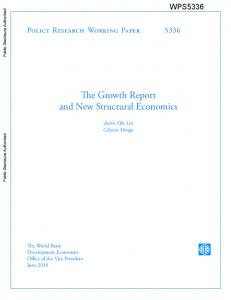 The Growth Report and New Structural Economics