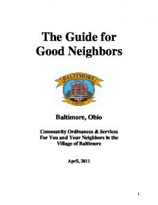 The Guide for Good Neighbors