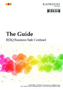 The Guide. REIQ Business Sale Contract