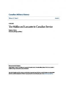 The Halifax and Lancaster in Canadian Service