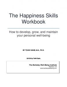 The Happiness Skills Workbook