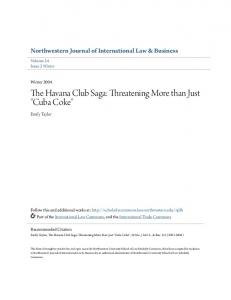 The Havana Club Saga: Threatening More than Just