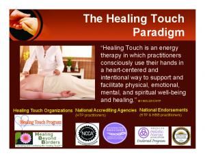 The Healing Touch Paradigm