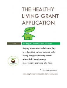 THE HEALTHY LIVING GRANT APPLICATION