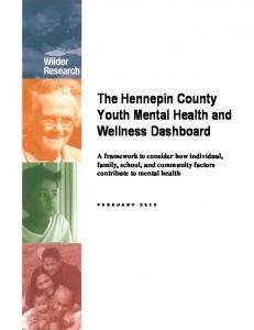 The Hennepin County Youth Mental Health and Wellness Dashboard