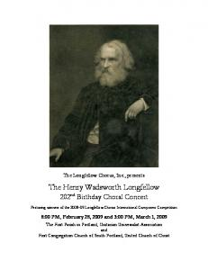 The Henry Wadsworth Longfellow 202nd Birthday Choral Concert