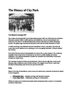 The History of City Park