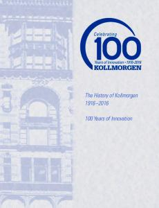 The History of Kollmorgen Years of Innovation