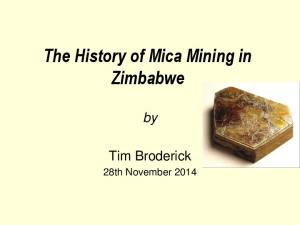 The History of Mica Mining in Zimbabwe