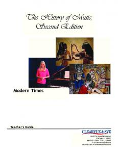 The History of Music, Second Edition
