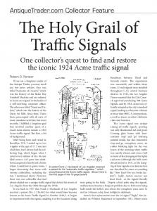 The Holy Grail of Traffic Signals
