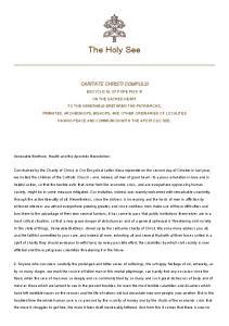 The Holy See CARITATE CHRISTI COMPULSI