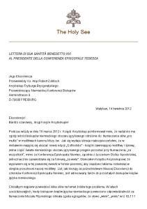 The Holy See. Watykan, 14 kwietnia 2012