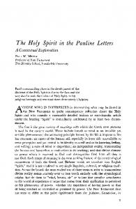 The Holy Spirit in the Pauline Letters