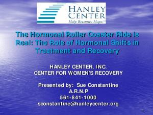 The Hormonal Roller Coaster Ride is Real: The Role of Hormonal Shifts in Treatment and Recovery