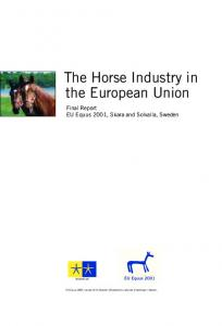 The Horse Industry in the European Union