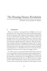 The Housing Finance Revolution