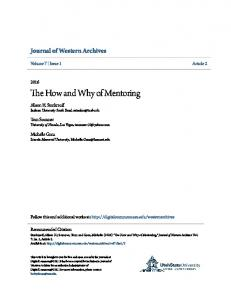 The How and Why of Mentoring