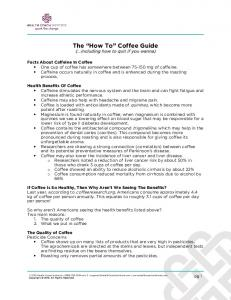 The How To Coffee Guide (...including how to quit if you wanna)