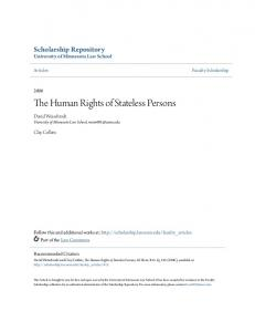 The Human Rights of Stateless Persons