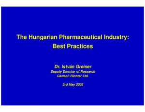 The Hungarian Pharmaceutical Industry: Best Practices