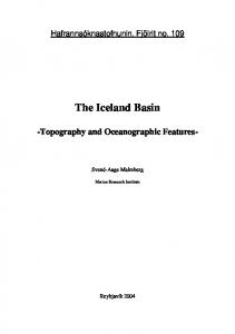 The Iceland Basin -Topography and Oceanographic Features-