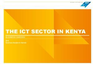 THE ICT SECTOR IN KENYA