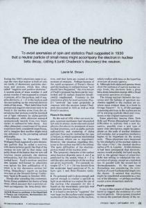 The idea of the neutrino
