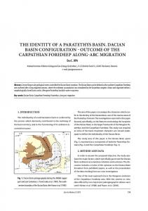 THE IDENTITY OF A PARATETHYS BASIN. DACIAN BASIN CONFIGURATION - OUTCOME OF THE CARPATHIAN FOREDEEP ALONG-ARC MIGRATION