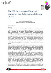 The IEA International Study of Computer and Information Literacy (ICILS)
