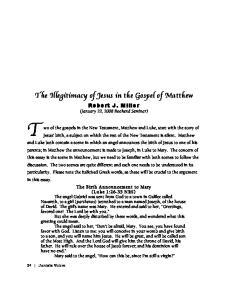 The Illegitimacy of Jesus in the Gospel of Matthew