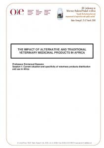THE IMPACT OF ALTERNATIVE AND TRADITIONAL VETERINARY MEDICINAL PRODUCTS IN AFRICA