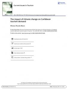 The impact of climate change on Caribbean tourism demand