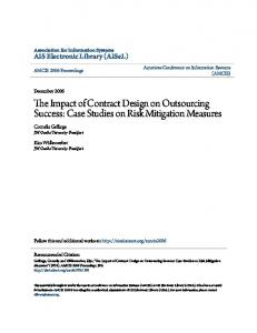 The Impact of Contract Design on Outsourcing Success: Case Studies on Risk Mitigation Measures
