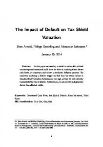 The Impact of Default on Tax Shield Valuation
