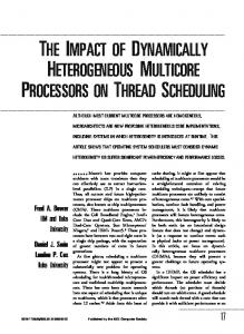 THE IMPACT OF DYNAMICALLY HETEROGENEOUS MULTICORE PROCESSORS ON THREAD SCHEDULING
