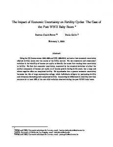 The Impact of Economic Uncertainty on Fertility Cycles: The Case of the Post WWII Baby Boom