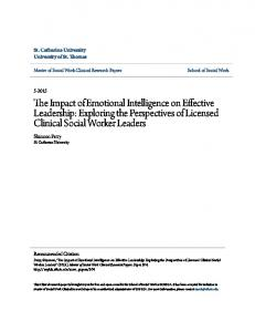 The Impact of Emotional Intelligence on Effective Leadership: Exploring the Perspectives of Licensed Clinical Social Worker Leaders