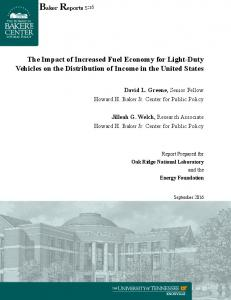 The Impact of Increased Fuel Economy for Light-Duty Vehicles on the Distribution of Income in the United States