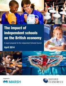 The impact of independent schools on the British economy