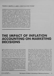 THE IMPACT OF INFLATION ACCOUNTING ON MARKETING DECISIONS