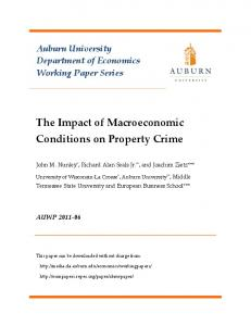 The Impact of Macroeconomic Conditions on Property Crime
